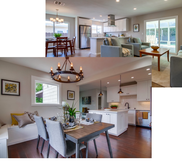 renovated kitchens and living rooms
