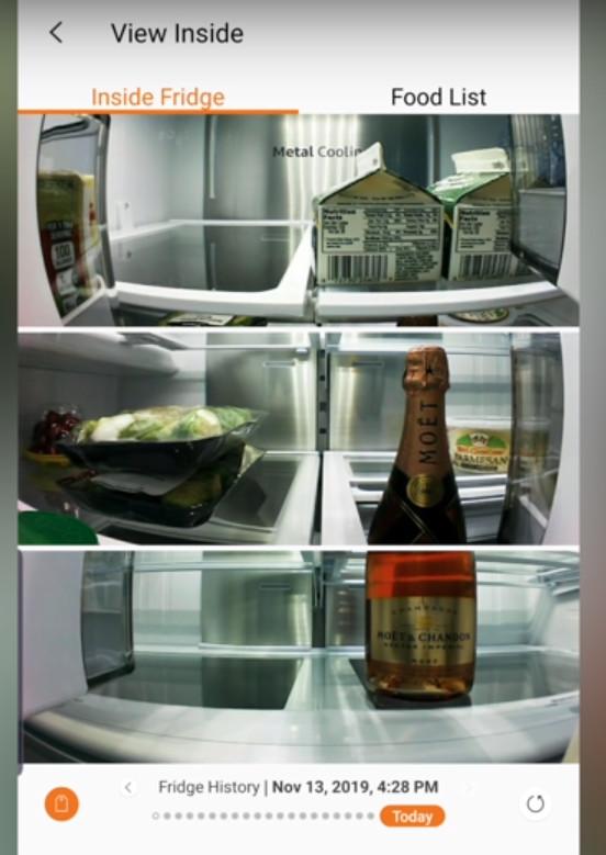 Smart Refrigerator internal camera